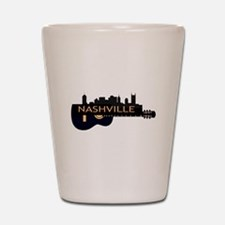 Nashville Guitar Skyline Shot Glass