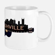 Nashville Guitar Skyline Mugs
