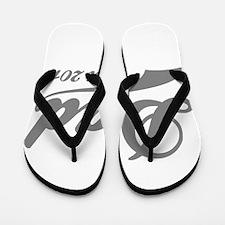 Dad Est 2015 Flip Flops