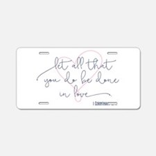 Done in Love Aluminum License Plate