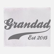 Grandad Est 2015 Throw Blanket