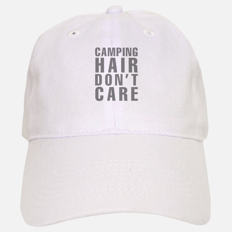 Camping Hair Don't Care Baseball Baseball Cap