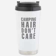 Camping Hair Don't Care Stainless Steel Travel Mug