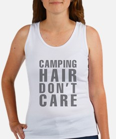 Camping Hair Don't Care Women's Tank Top