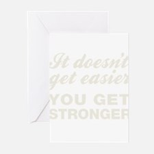 It Doesn't Get Easier Yo Greeting Cards (Pk of 20)