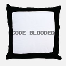 Code Blooded Throw Pillow