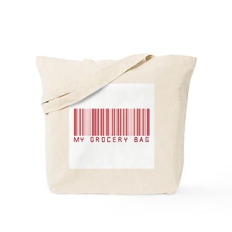 My Grocery Bag barcode Tote Bag