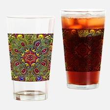 Beautiful Pattern Metallic Drinking Glass
