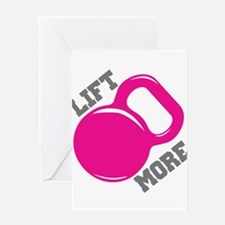 Lift More Kettlebell Greeting Card