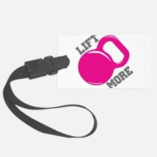 Lift More Kettlebell Luggage Tag