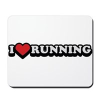 I Love Running Mousepad
