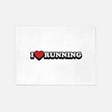 I Love Running 5'x7'Area Rug