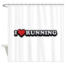 I Love Running Shower Curtain