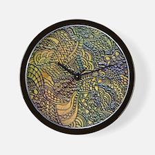 Whirls Swirls Curls A Wall Clock