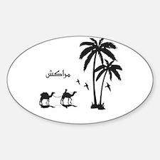 Unique Morocco Sticker (Oval)