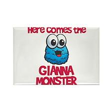 Gianna Monster Rectangle Magnet (10 pack)