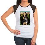 MonaLisa-Aussie Shep (Tri-L) Women's Cap Sleeve T-