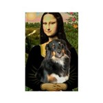 MonaLisa-Aussie Shep (Tri-L) Rectangle Magnet