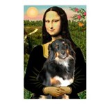 MonaLisa-Aussie Shep (Tri-L) Postcards (Package of