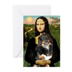 MonaLisa-Aussie Shep (Tri-L) Greeting Cards (Pk of