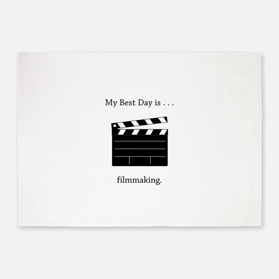 Best Day Filmmaking Gifts 5'x7'Area Rug