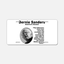 Sanders: Billionaires Aluminum License Plate