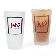 Jeb Bush 2016 Parody Drinking Glass