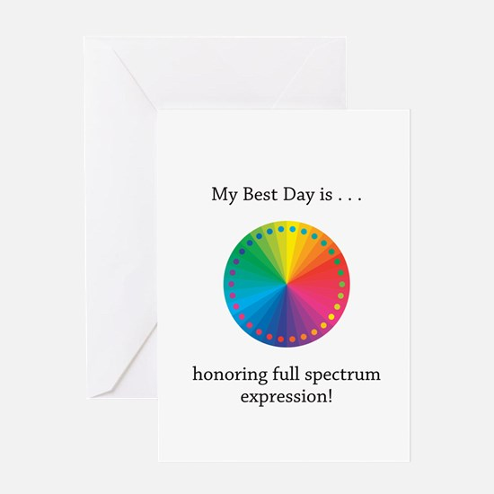 Best Day Colorful Expression Gifts Greeting Cards
