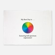 Best Day Colorful Expression Gifts 5'x7'Area Rug