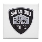 San Antonio PD Canine Tile Coaster