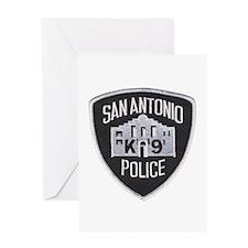 San Antonio PD Canine Greeting Card