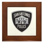 San Antonio PD Canine Framed Tile