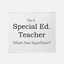 Special Ed. Teacher Throw Blanket
