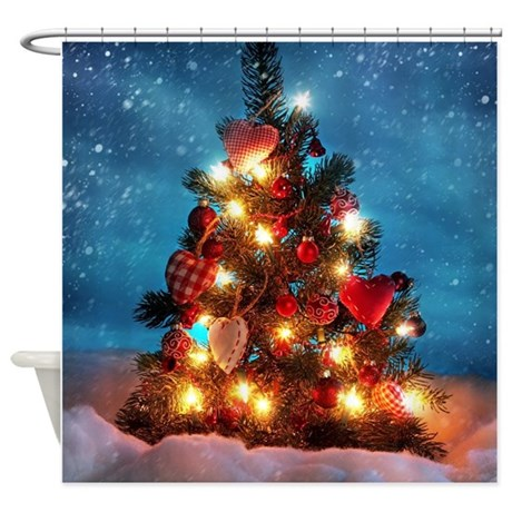 Christmas Tree Shower Curtain By Simpleshopping