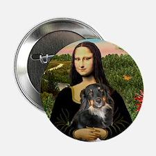 "MonaLisa-Aussie Shep (Tri-L) 2.25"" Button"