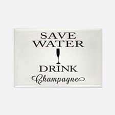 Save Water Drink Champagne Magnets