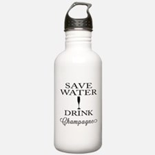 Save Water Drink Champagne Sports Water Bottle