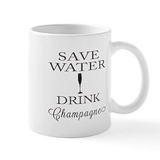 Save Water Drink Champagne Mugs