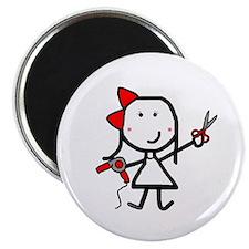Girl & Hair Dryer Magnet