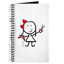 Girl & Hair Dryer Journal