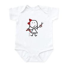 Girl & Hair Dryer Infant Bodysuit