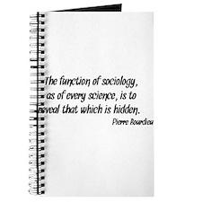 Pierre Bourdieu Quote Sociology Journal