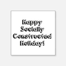 Happy Holidays For The Sociologist Sticker