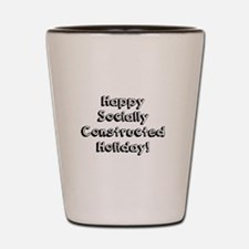 Happy Holidays For The Sociologist Shot Glass