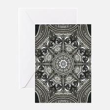 vintage metal mandala bohemian Greeting Cards