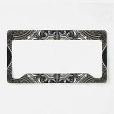 vintage metal mandala bohemia License Plate Holder