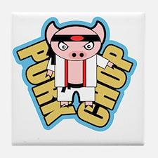 Cute No pork Tile Coaster