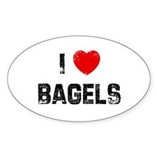 I * Bagels Oval Decal