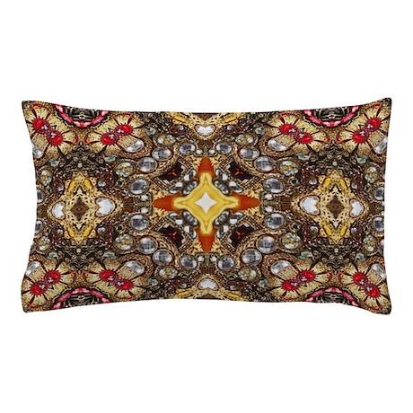 Scandinavian Pillow Cases : vintage gold cross scandinavian Pillow Case by ADMIN_CP62325139