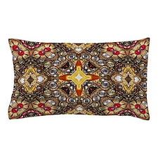 vintage gold cross scandinavian Pillow Case